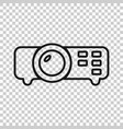 video projector sign icon in transparent style vector image