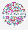 wedding invitation concept in circle vector image vector image