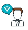 wifi connection sign isolated icon vector image vector image