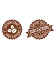 zero caffeine stamp seals with grunge texture in vector image vector image