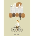 Girl on a bicykle vector image
