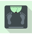 Weight scale icon flat style vector image