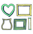 five colorful frames pictures vector image