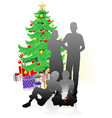 a family christmas vector image