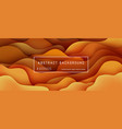 abstract background with expressive orange brown vector image