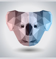 abstract polygonal tirangle animal koala hipster vector image vector image