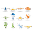 aircraft s and icons vector image
