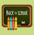 back to school label with chalkboard vector image
