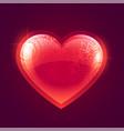 beautiful shiny red glowing heart background