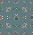 beetles fly maryls insects seamless pattern vector image vector image