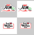 best mom ever sticker and icon vector image