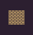 brick wall icon building and construction vector image vector image