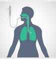 bronchoscopy logo icon vector image vector image