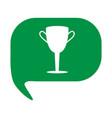 championship winner trophy symbol winner cup icon vector image