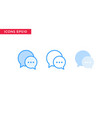 chat message icon in line outline filled outline vector image