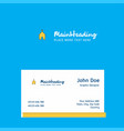 church logo design with business card template vector image vector image