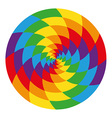 Circle of abstract psychedelic rainbow vector image vector image