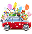 circus red car vector image