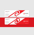 creative corporate red business card template vector image vector image