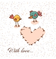 Cute background in cartoon style vector image