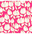 elegant decorative tulip floral seamless pattern vector image