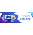 esports coaching concept banner header vector image vector image