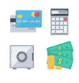 Finance money icons set vector image vector image