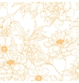 Floral pattern with flowers vector image vector image