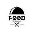 food restaurant logo pot lid background ima vector image vector image