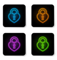 glowing neon castle in shape a heart icon vector image