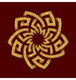 Golden glittering logo template in Celtic knots vector image vector image