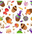 halloween candy seamless pattern texture vector image vector image