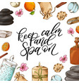 hand drawn quote about spa graphic elements in vector image