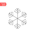 hand drawn snowflakes delicate snow icon vector image vector image