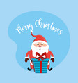 happy christmas celebration with decoration design vector image