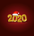 happy new 2020 year golden realistic numbers vector image
