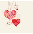 hearts on strings vector image