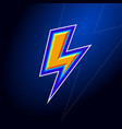 l monogram lightning with contours vector image