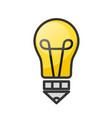 light bubl with pencil idea creative design stock vector image vector image