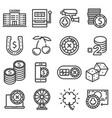 line casino icons set vector image