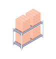 loaded pallet rack isometric vector image vector image