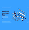 long tail keyword isometric landing page banner vector image vector image