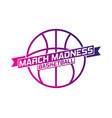 march madness basketball vector image vector image