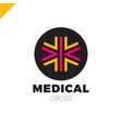medic cross icon pharmacy logo template corporate vector image vector image