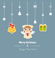 merry christmas greeting card merry christmas vector image