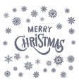Merry Christmas Lettering text decorative vector image