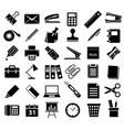 office accessory icon set vector image vector image