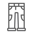 pants line icon clothing and casual trousers vector image vector image
