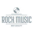 quality rock music logo simple gray style vector image vector image