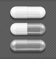 realistic detailed 3d capsule medical set vector image vector image